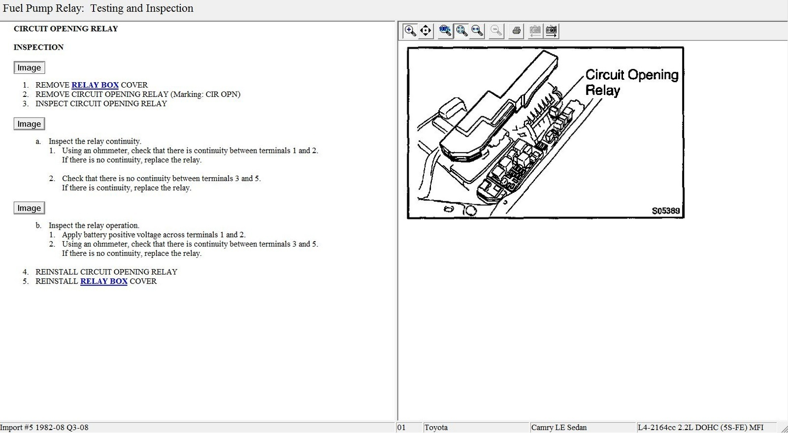 Wiring Diagram Fuel Pump Relay Location