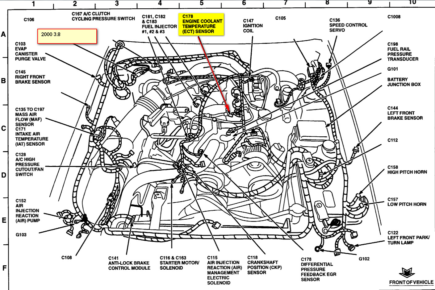 Ford Taurus Low Coolant Sensor Location Free