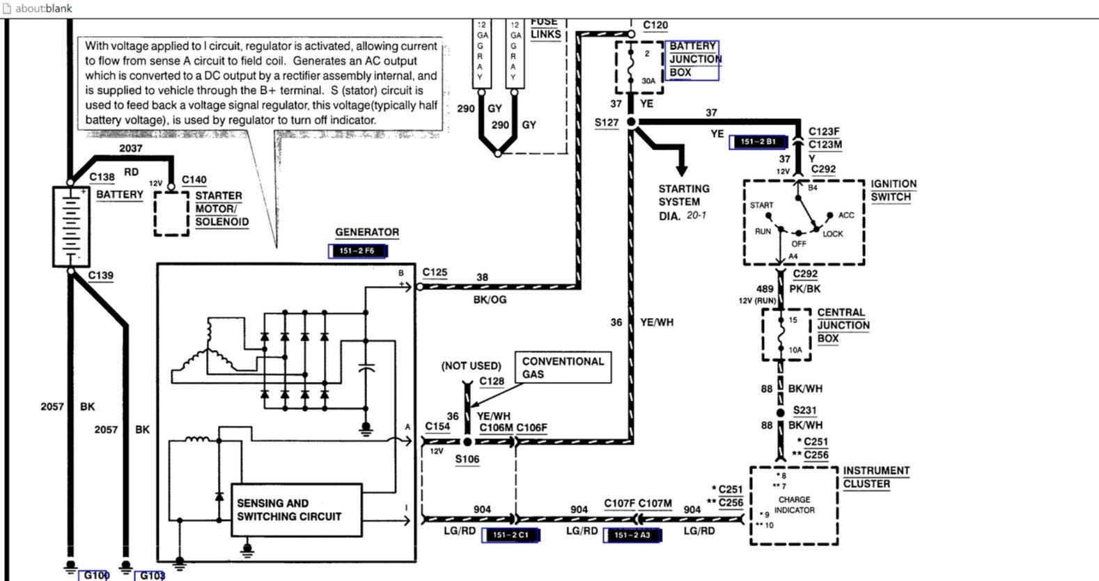 Ford Probe Fuse Box Diagram