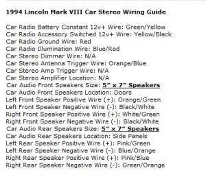 Lincoln Mark VIII Questions  Change tape deck to cd