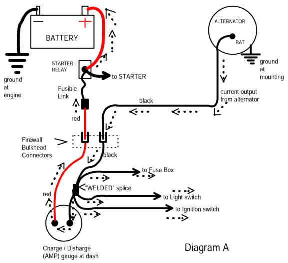 1985 mustang alternator wiring diagram  dual dimmer switch