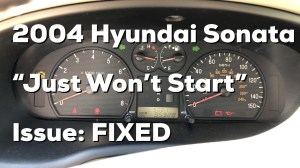 Hyundai Sonata Questions  Car won't do anything when you try to start it, happens