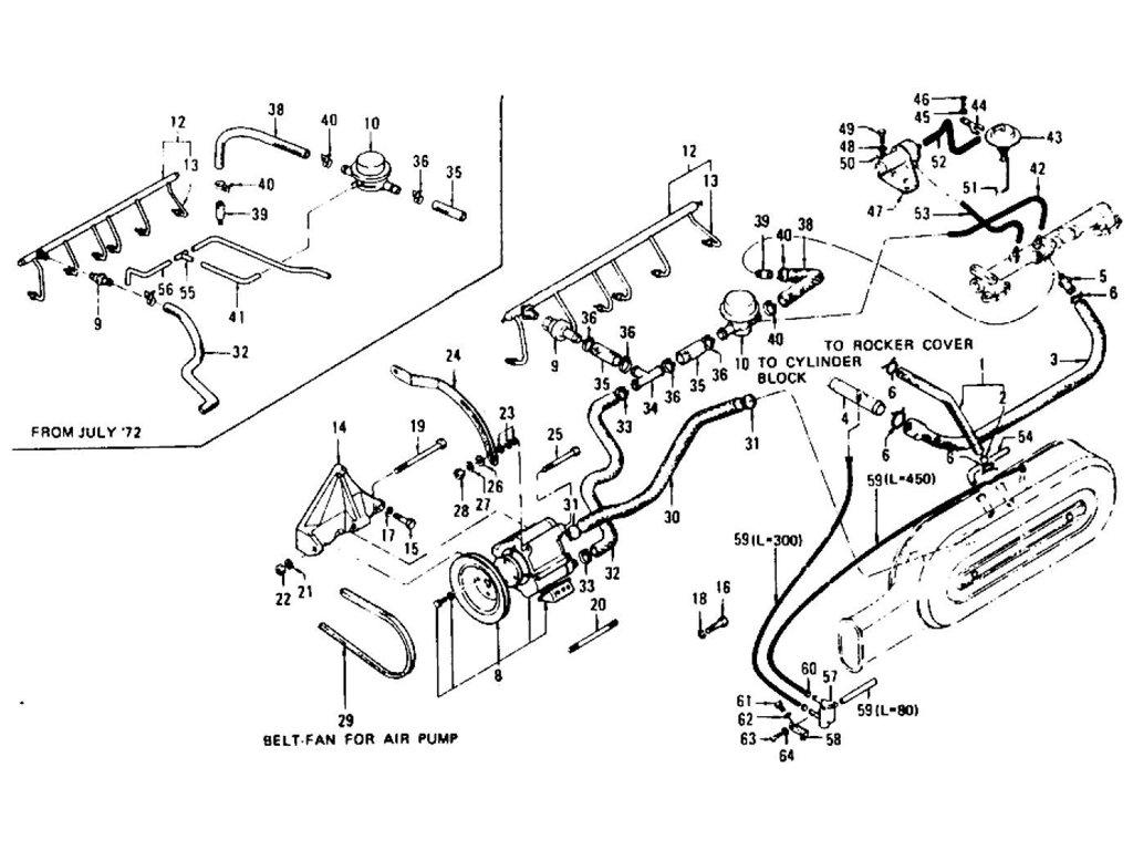 Datsun Z Emission Control Device L24 L26 To Nov 74