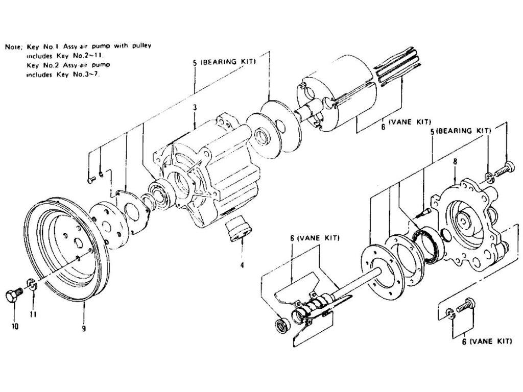 Datsun Z Air Pump L24 L26 To Nov 74