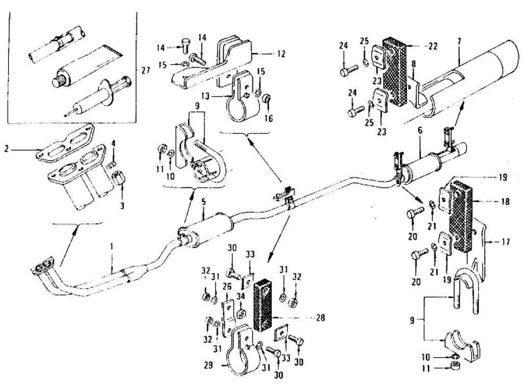 Datsun Z Exhaust Tube Amp Muffler L24 L26 To Jul 73