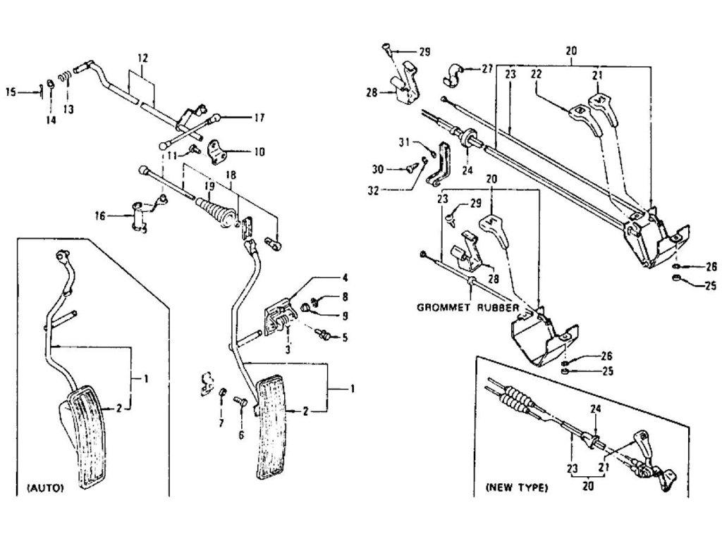 Datsun Z Accelerator Pedal Choke Amp Throttle Control L24