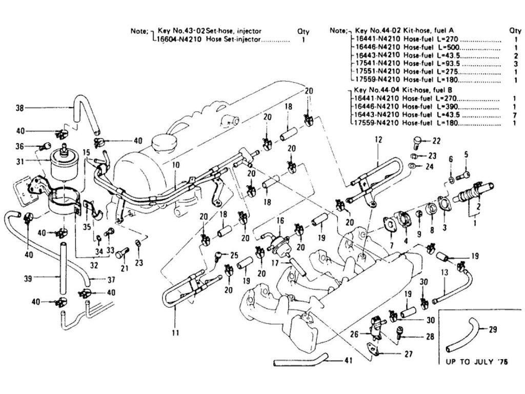 Datsun Z E F I 1 Fuel L28e To Jul 76