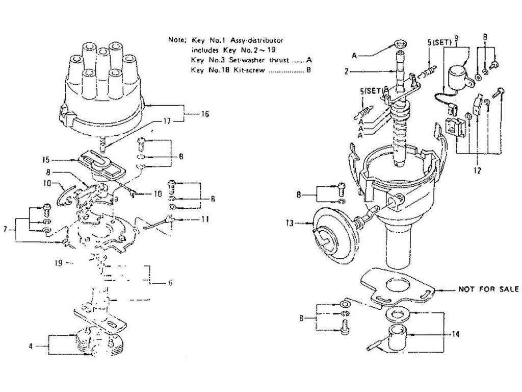 Datsun Z Distributor For Manual From Sep 71 To Jul 73