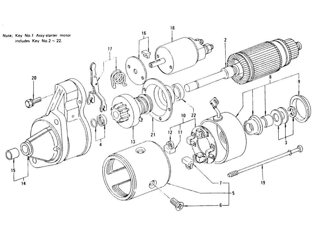 Datsun Z Starter Motor For Manual From Oct 75