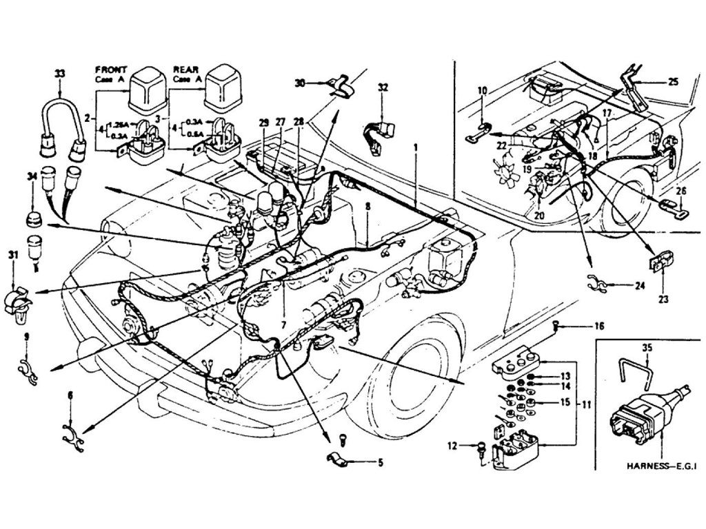 Datsun Z Wiring Engine Room From Dec 74 To Jul 76