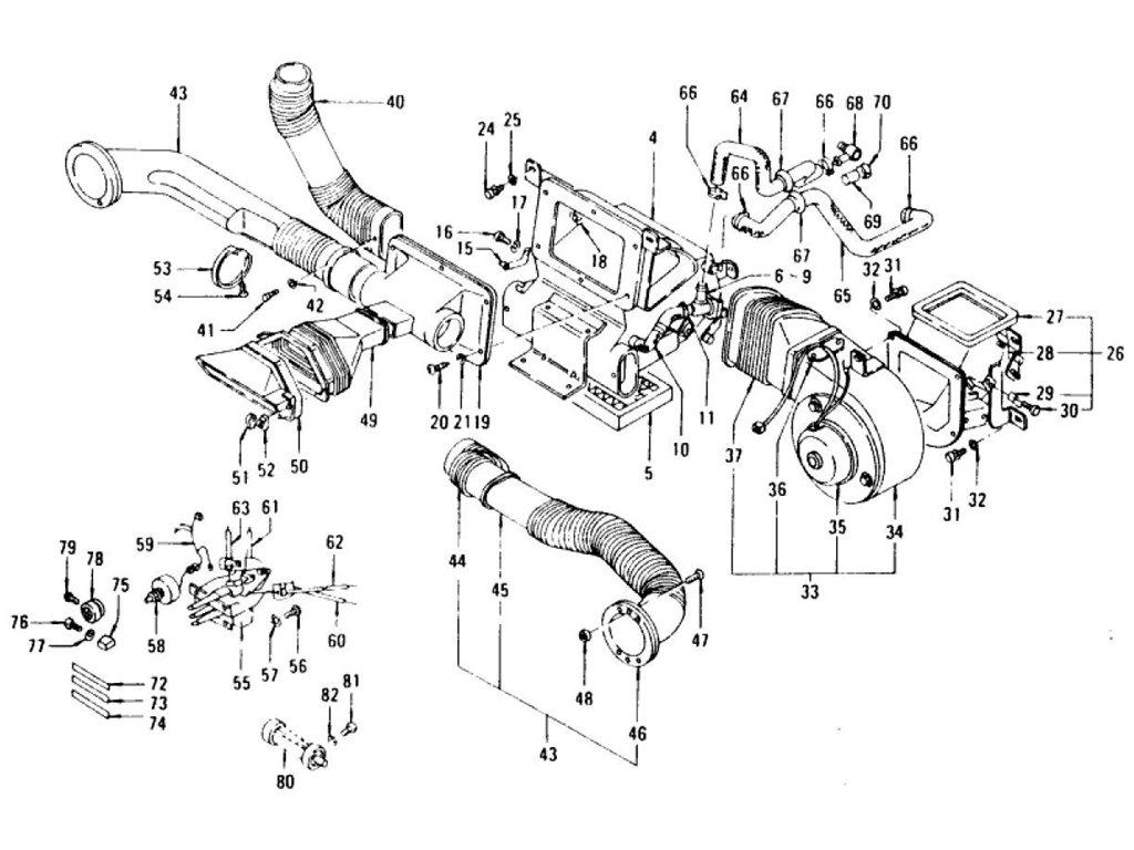 Datsun Z Car Heater To Jul 73