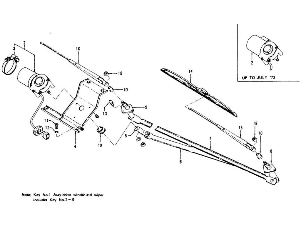 Datsun Z Windshield Wiper Motor Amp Wiper Blade