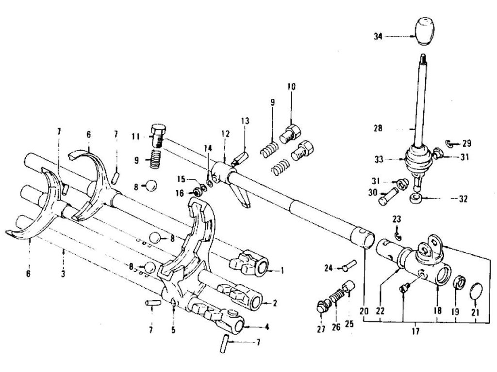 Datsun Z Transmission Control Lever Amp Fork 5 Speed