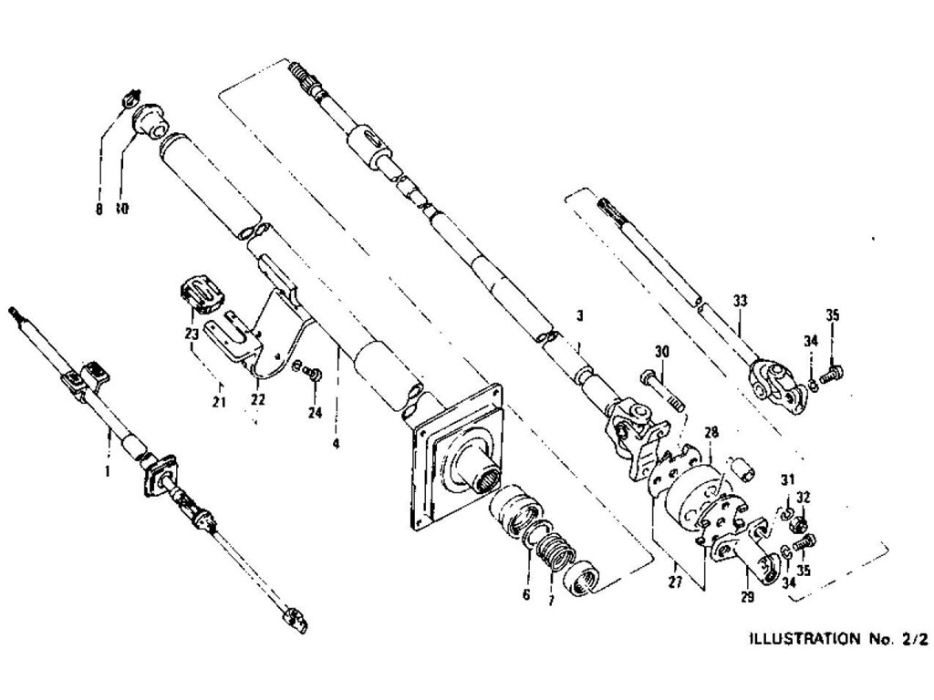 Datsun Z Steering Column Collapsible Type