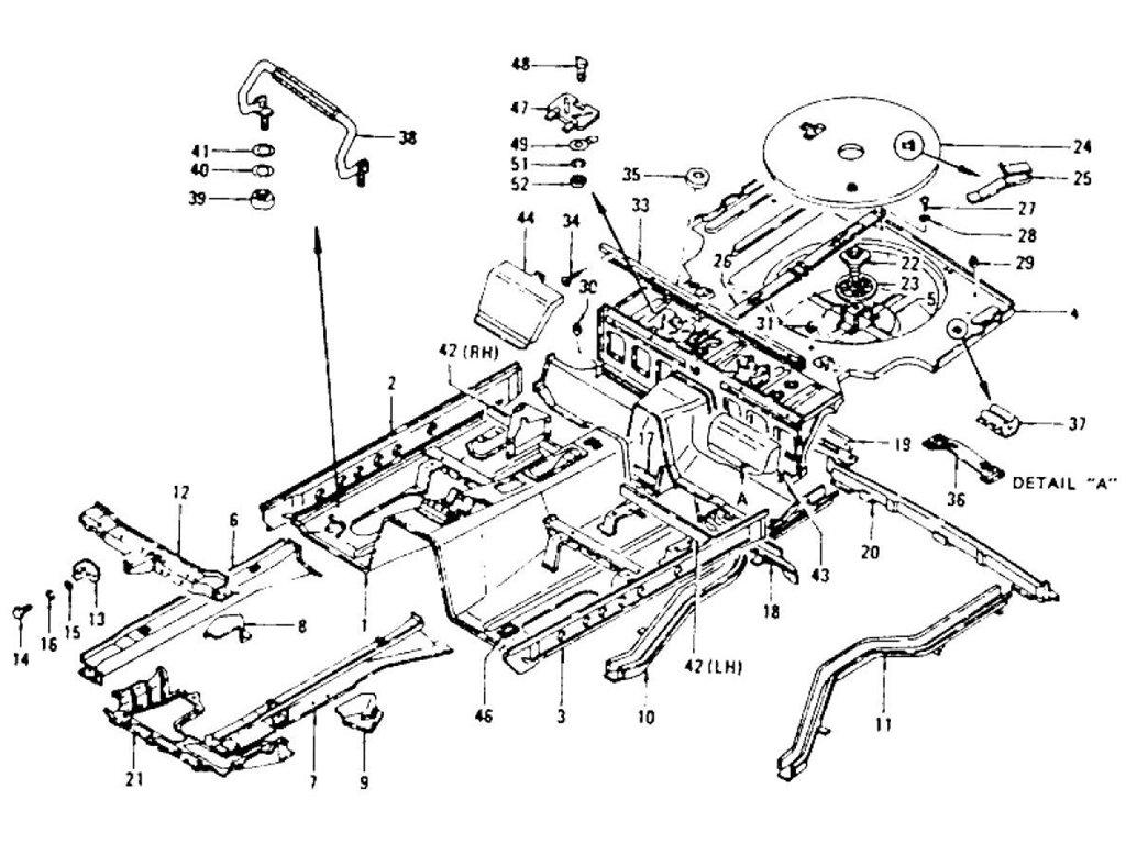 Datsun Z Floor Panel Amp Spare Tire Cover To Jul 73