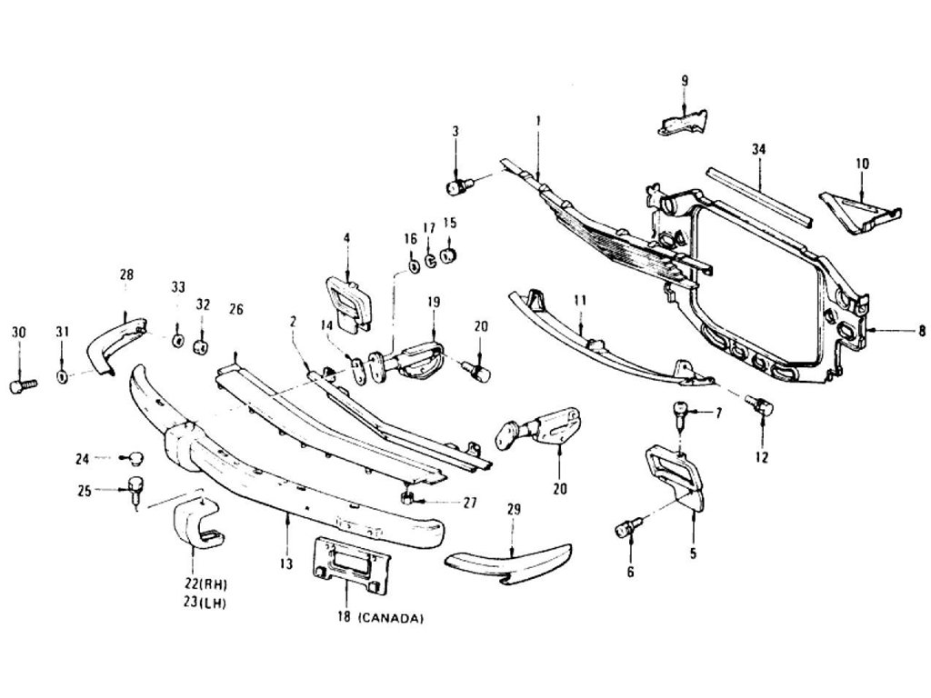 Datsun Z Radiator Grille Front Bumper Amp Over Rider 2