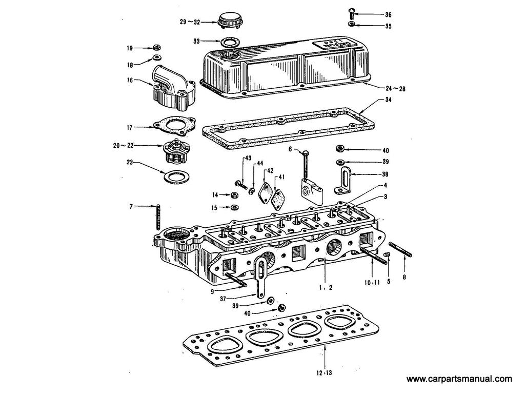 Datsun Bluebird 411 Cylinder Head 1 3l