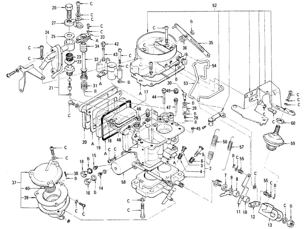 Datsun 510 Carburetor Hitachi Daf 328 8 L16 Auto From