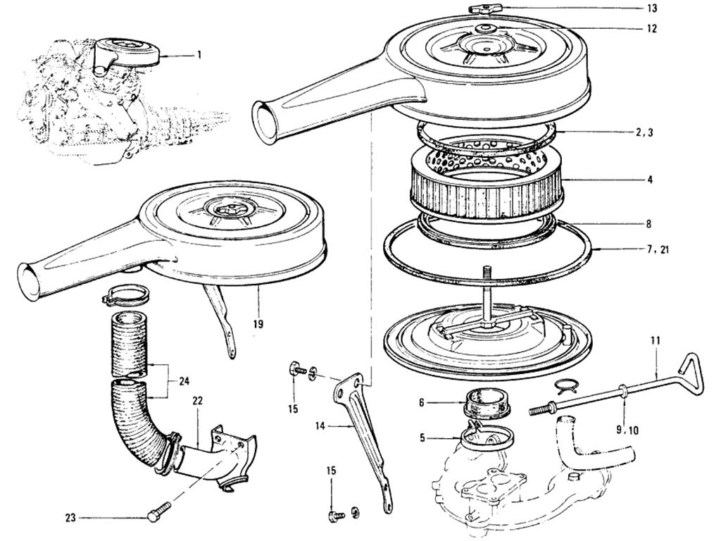 Datsun 510 Air Filter Amp Carburetor De Icer Kit Exc Sss