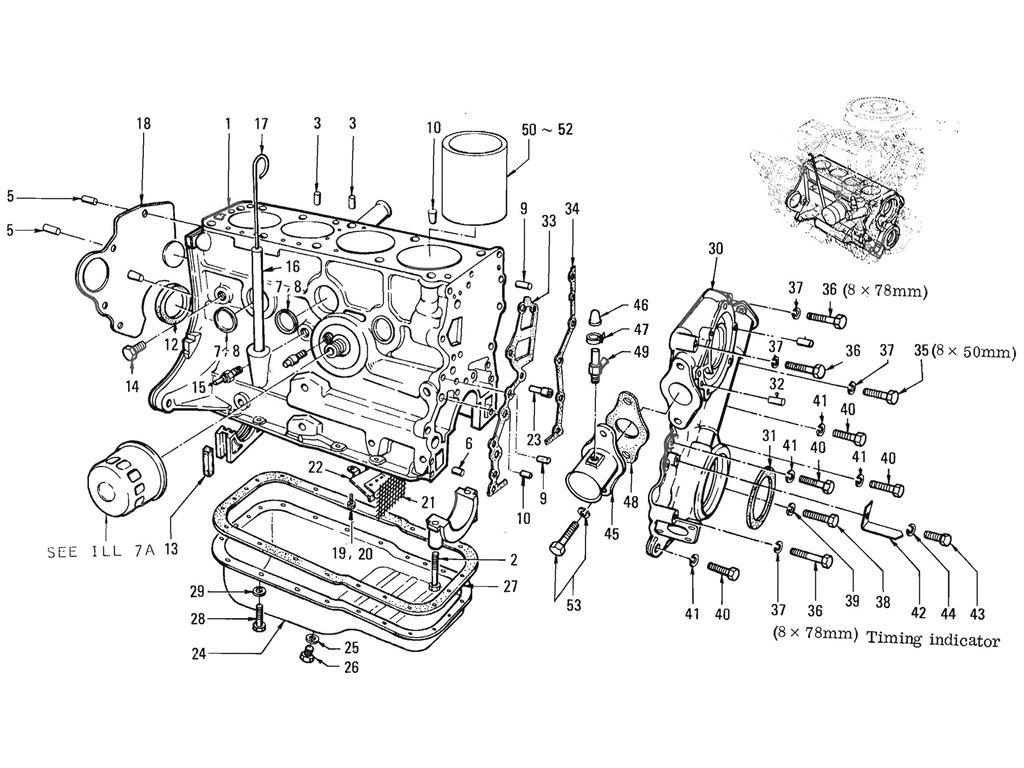 Datsun Pickup 520 521 Cylinder Block L16