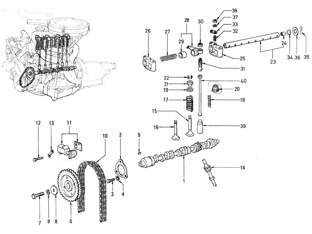 Datsun Pickup 520 521 Camshaft Amp Valve Mechanism J13