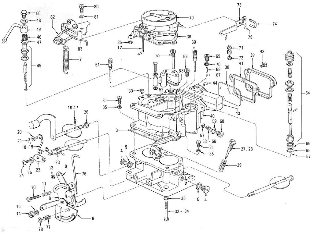 Datsun Pickup 520 521 Carburetor Nikki Exc Ltu J13