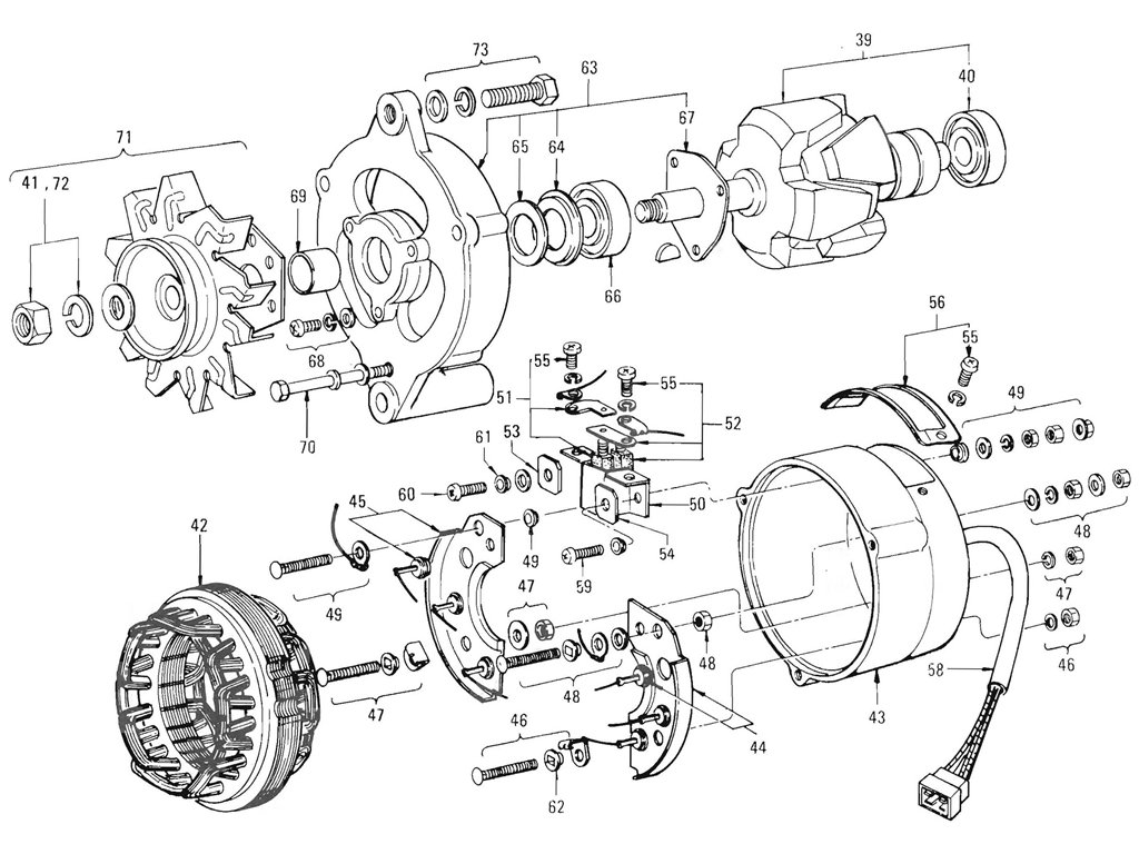 Alternator Wiring Diagram Datsun Alternator For Late
