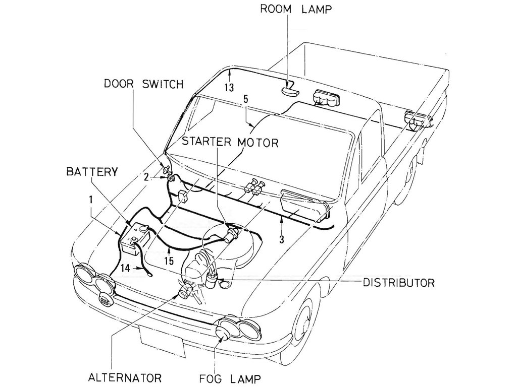 Datsun Pickup 520 521 Wiring L16