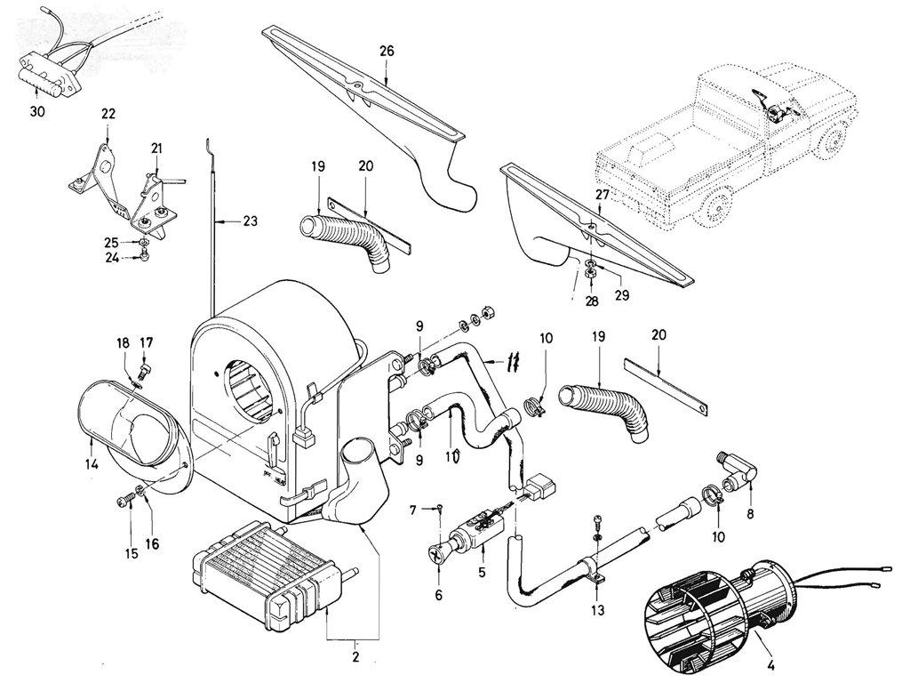 Datsun Pickup 520 521 Heater L16