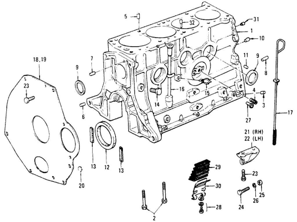 Datsun Pickup 620 Cylinder Block L20b