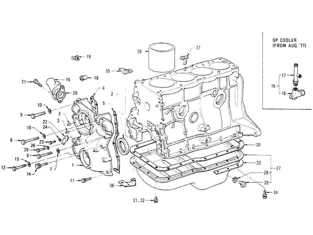 Datsun Pickup 620 Front Cover Amp Oil Pan L20b