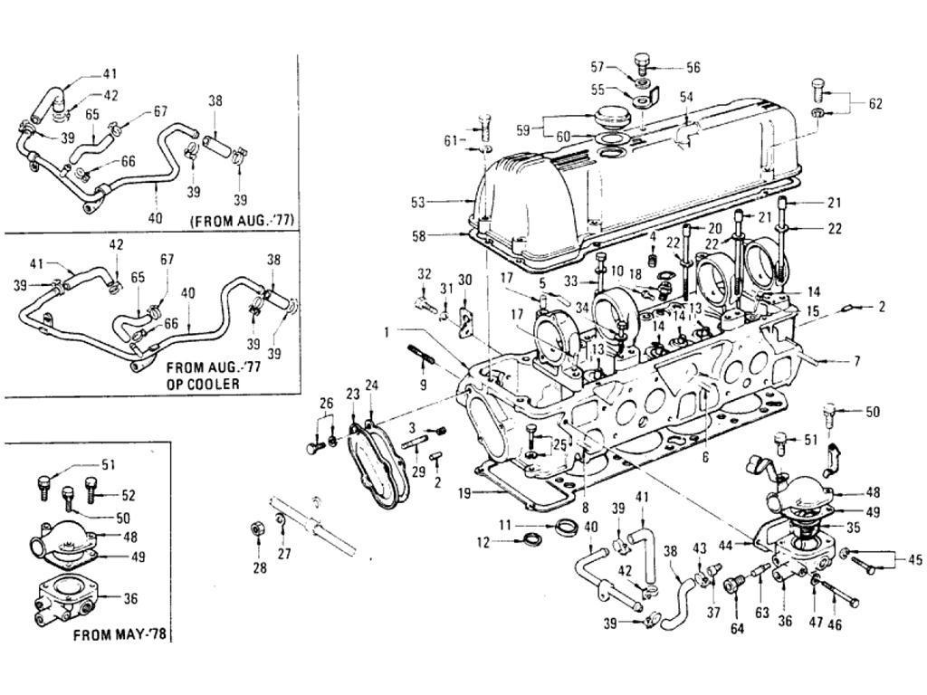 Datsun Pickup 620 Cylinder Head L20b