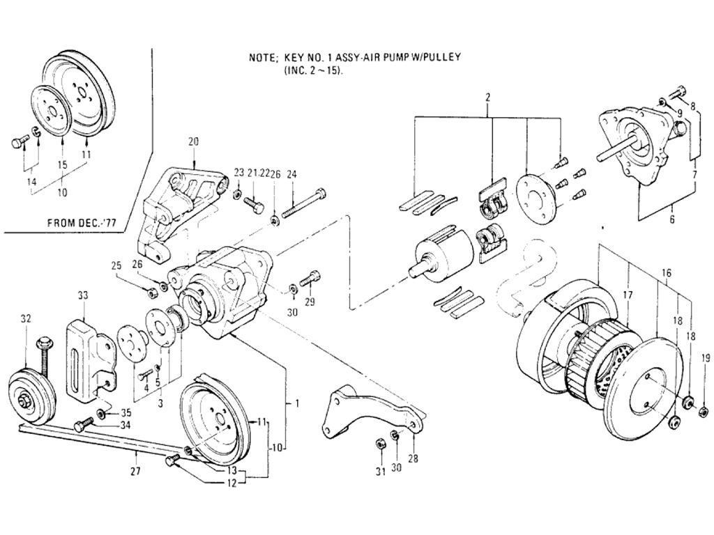 Datsun Pickup 620 Air Pump L20b