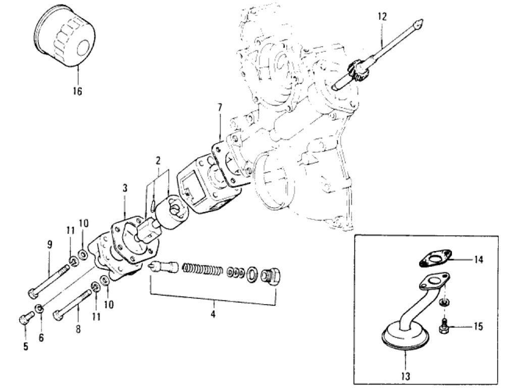 Datsun Pickup 620 Oil Pump L20b