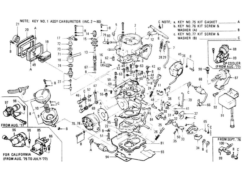Datsun Pickup 620 Carburetor L20b