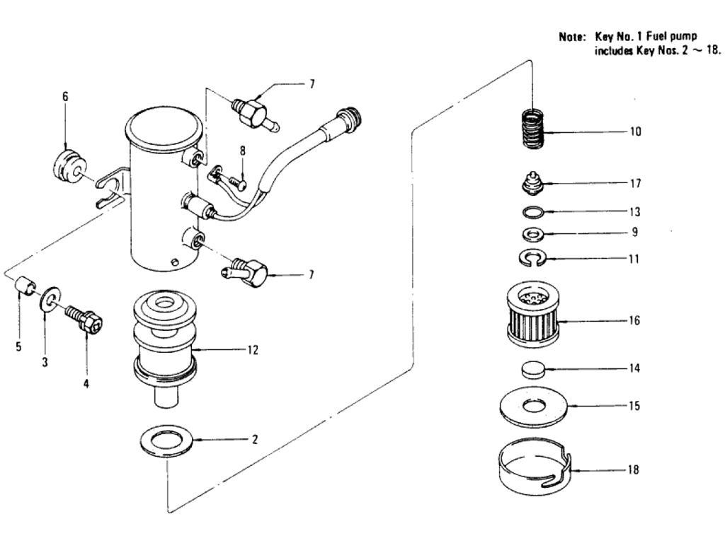 Datsun Pickup 620 Fuel Pump Camp L20b For Cooler Areas