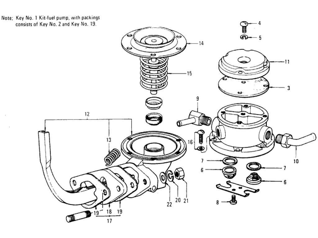 Datsun Pickup 620 Fuel Pump L16
