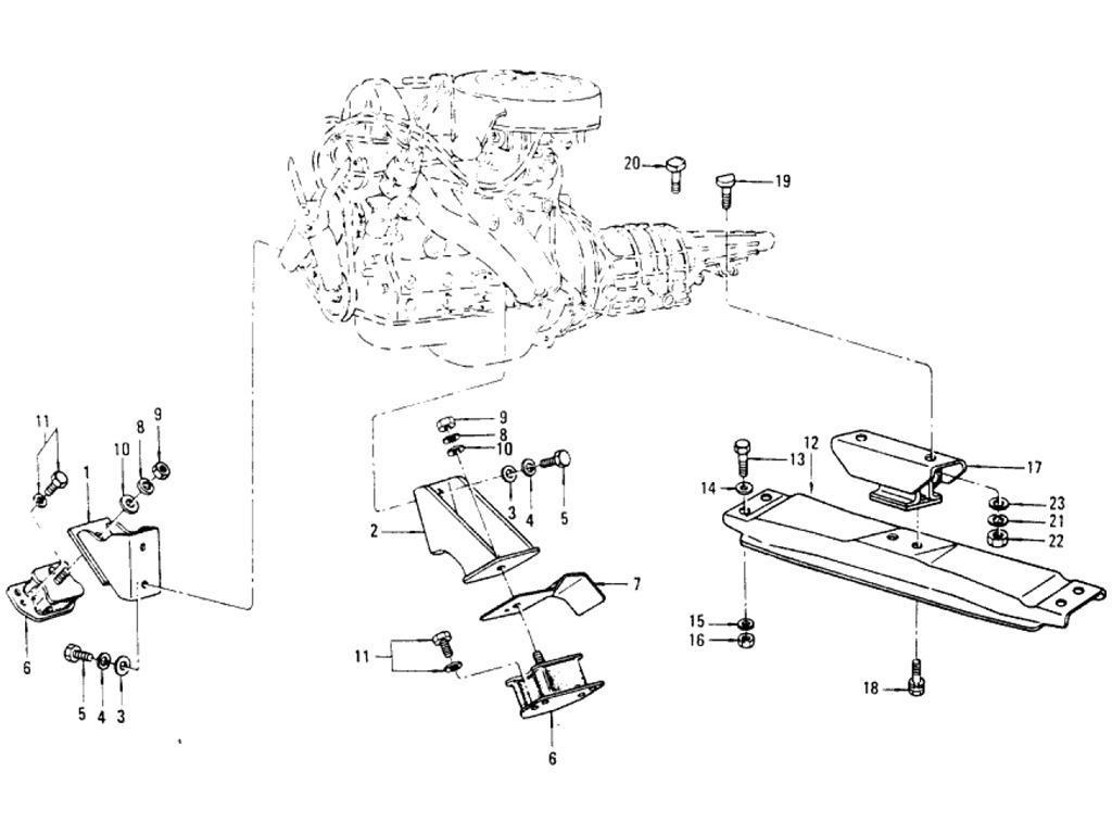 Datsun Pickup 620 Engine Mounting
