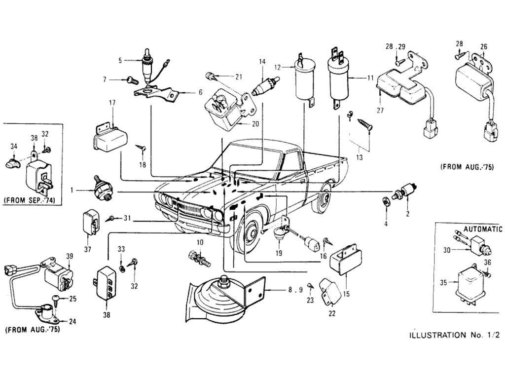 Datsun Pickup 620 Switches 1