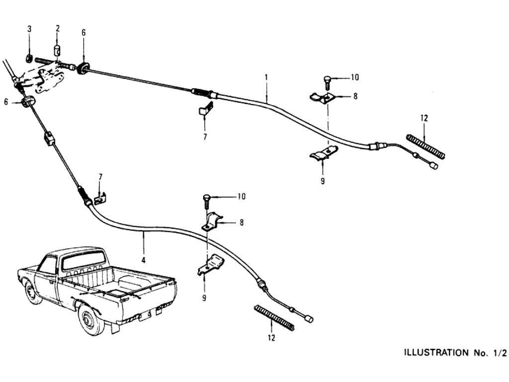Datsun Pickup 620 Hand Brake Linkage