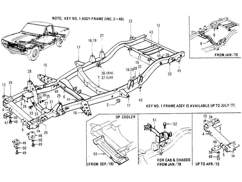 Datsun Pickup 620 Frame