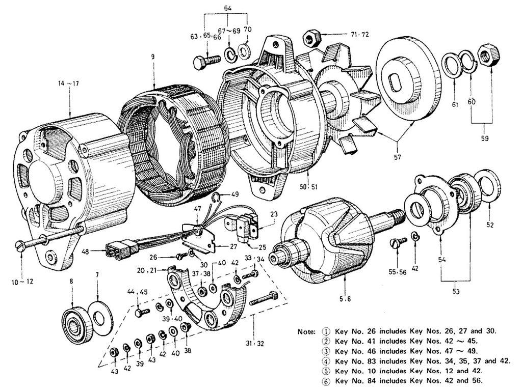 Datsun Sports R16 Alternator Exc Emission Control