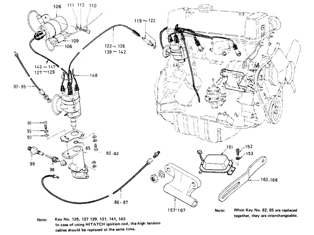 Datsun Sports Electric Parts Mounting