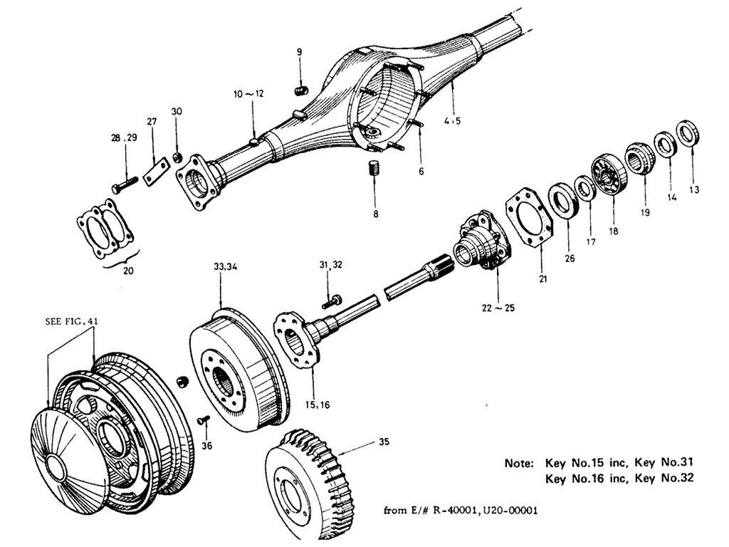 Datsun Sports Rear Axle