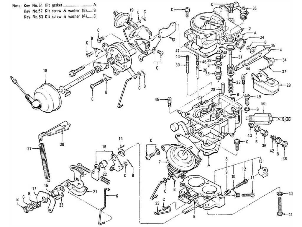 Datsun B110 Carburetor No Emission Control