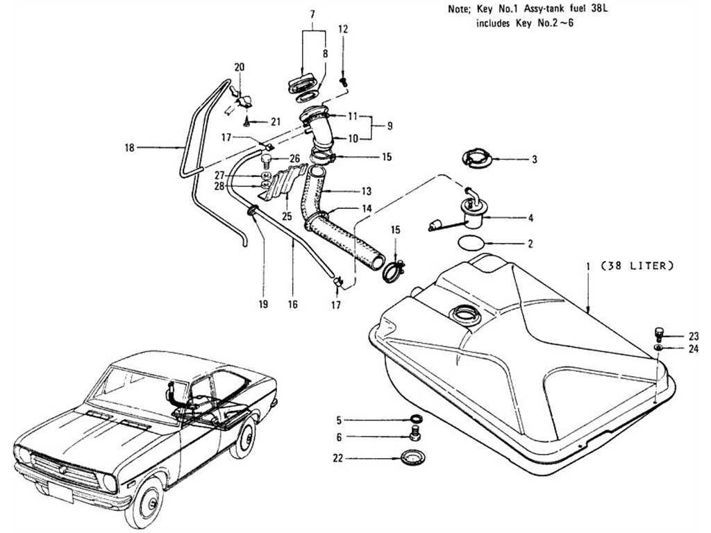 Datsun B110 Fuel Tank Coupe