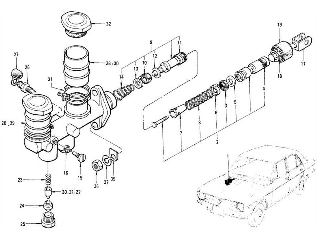 Datsun B110 Brake Master Cylinder Tandem Nabco