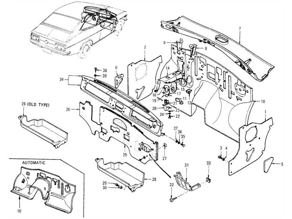 Datsun B110 Dash Panel Dash Side Panel
