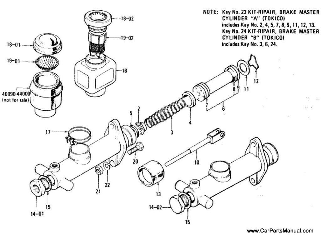 Nissan Patrol 60 Brake Master Cylinder Single