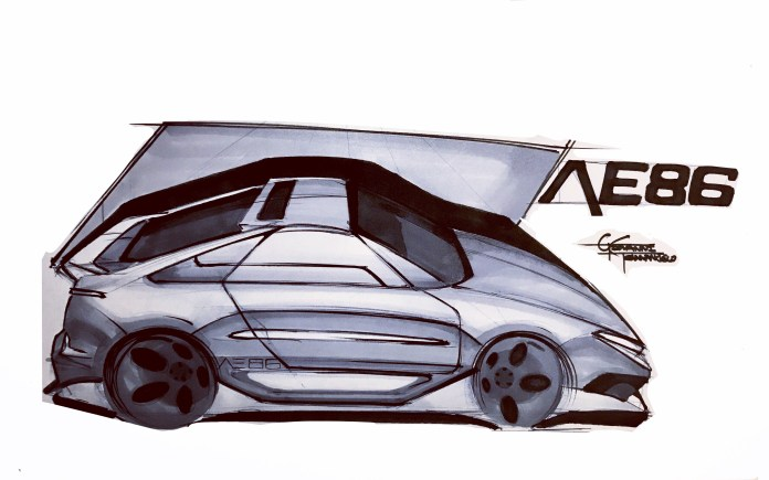 custom car drawings for sale